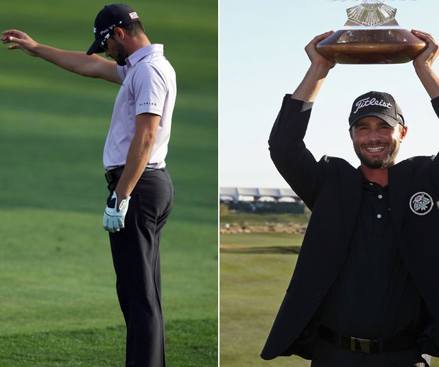After a heartbreaking loss at Torrey Pines (left), Kyle Stanley bounced back the following week to win at Phoenix.