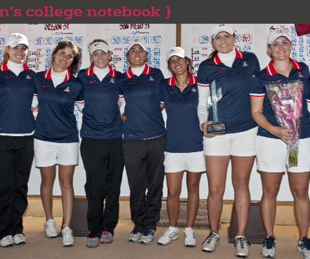 Arizona women's golf team