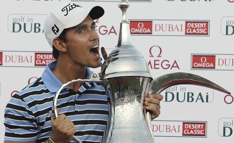 Rafael Cabrera-Bello won the Dubai Desert Classic on Sunday, shooting a 4-under 68 to beat Lee Westwood and Stephen Gallacher by one shot.