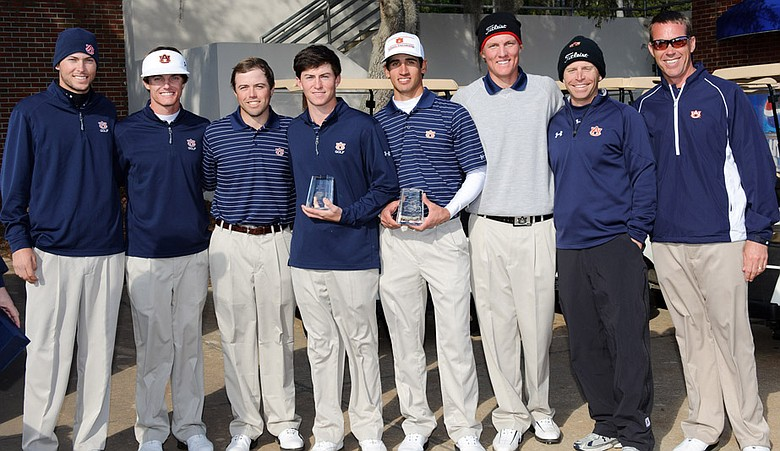 Auburn men's golf team after winning the 2012 Gator Invitational.