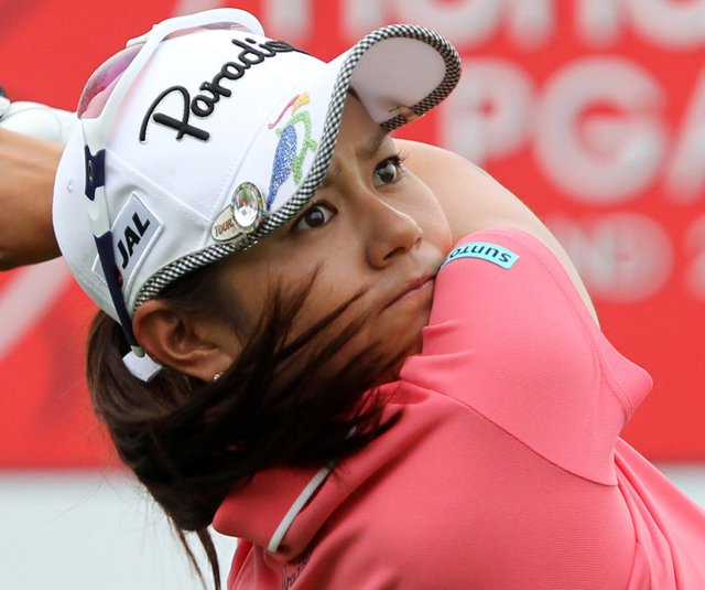 Ai Miyazato during the third round of the LPGA Thailand golf tournament.