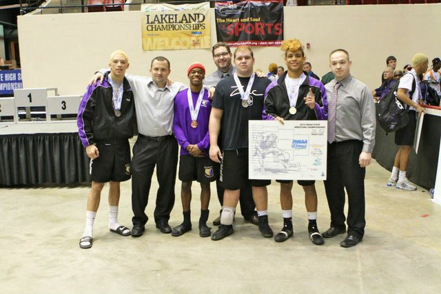 Winter Springs' wrestling team was fifth in the state.