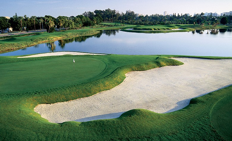 Miami Beach GC (hole No. 16, foreground; hole No. 17, background)
