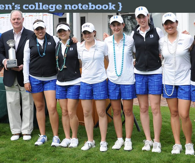 The Duke women's golf team after winning the Allstate Sugar Bowl Intercollegiate.