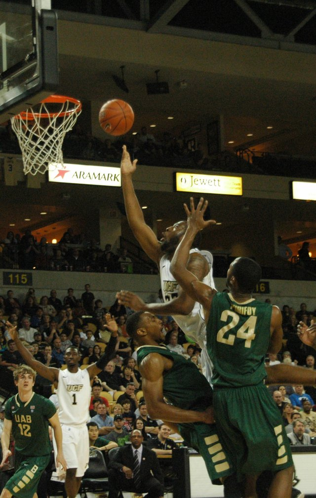 Keith Clanton led the Knights to a regular-season-ending win over UAB March 3.