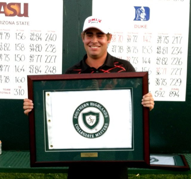 UNLV&#39;s Blake Biddle was medalist at Southern Highlands.