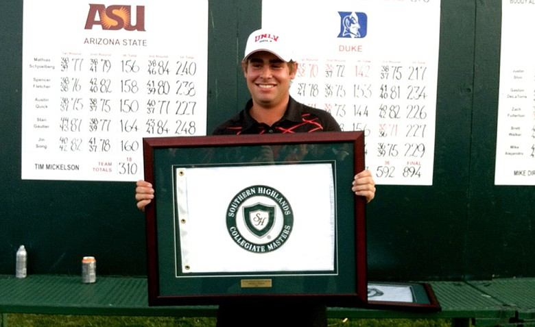 UNLV's Blake Biddle was medalist at Southern Highlands.