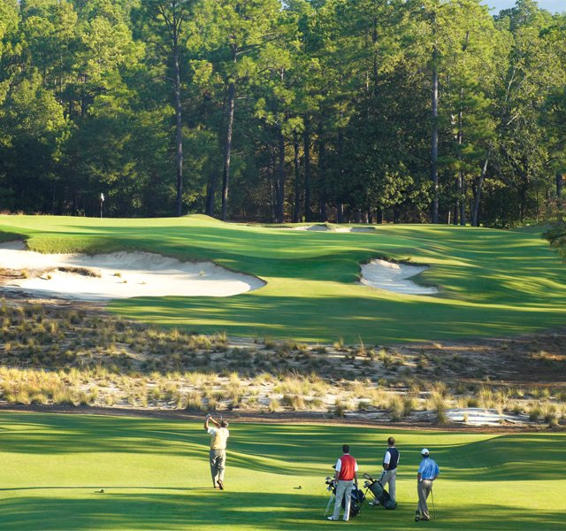 The ninth hole at Pinehurst Resort (No. 2).