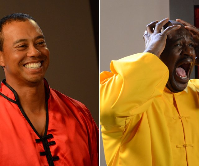 Tiger Woods and Shaquille O&#39;Neal took part in a recent EA Sports commercial shoot for &quot;Tiger Woods PGA Tour 13.&quot;