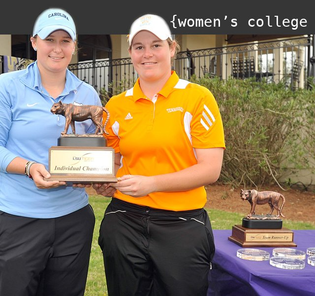North Carolina's Catherine O'Donnell and Tennessee's Erica Popson shared medalist honors at the LSU Golf Classic.