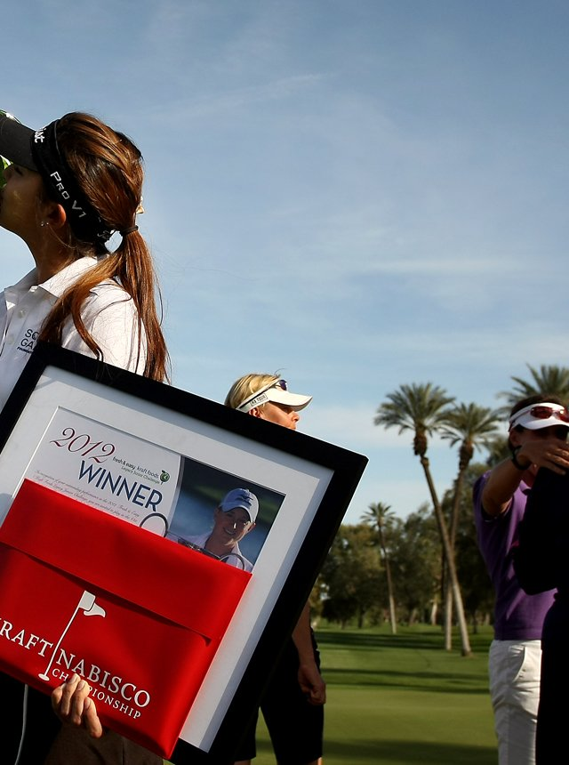 Alison Lee won the Fresh and Easy-Kraft Foods Legacy Junior Challenge at the Kraft Nabisco Championship. Lee earned the chance to play in the year's first major on the Dinah Shore Tournament Course.