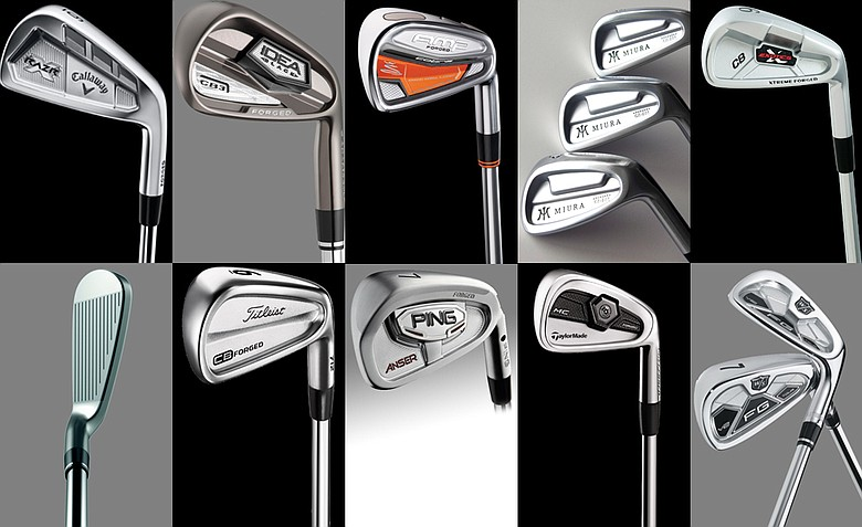 A selection of forged irons on the market right now.