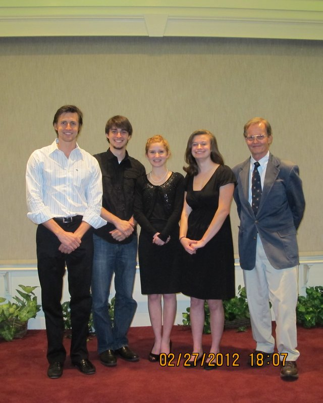 Shakespeare Competition winners from the English-Speaking Union of Central Florida.