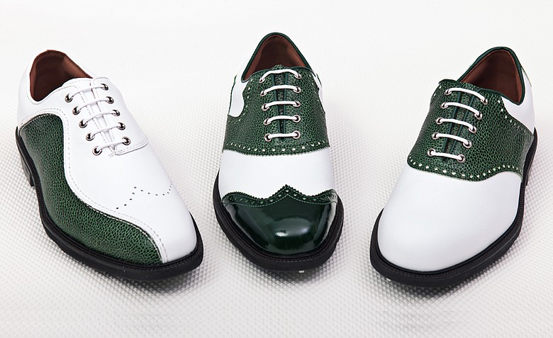 MyJoys allows consumers to customize FootJoy shoes in more than 500,000 combinations of styles, colors and materials, including limited-edition leathers such as this green sting-ray print used to commemorate the 2012 Masters.