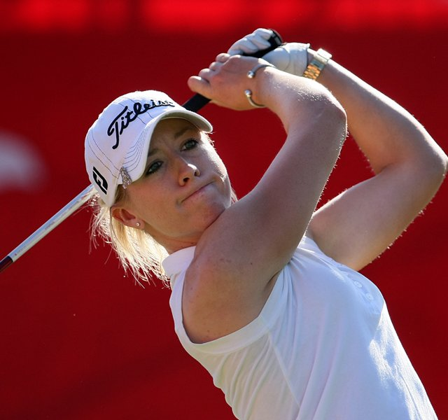 Jodi Ewart at No. 1 on Friday at the Kraft Nabisco Championship.
