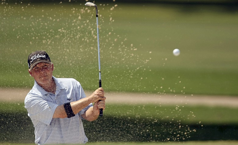 Randal Lewis played with Martin Kaymer, Tom Watson and Andy North on Monday at Augusta National.