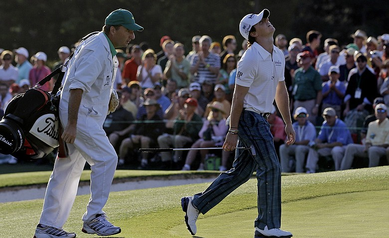 Rory McIlroy shot a third-round 77 at Augusta National.