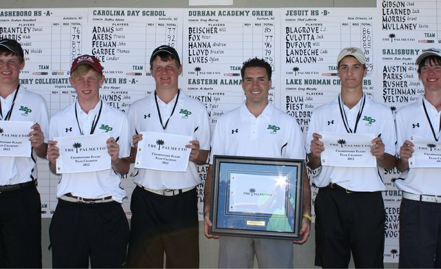 Myers Park, winner of the 2012 Palmetto High School Golf Championship.