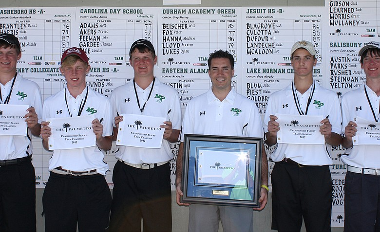 Myers Park, winner of the 2012 Palmetto High School Golf Championship.
