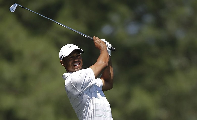 Tiger Woods during the third round of the Masters.