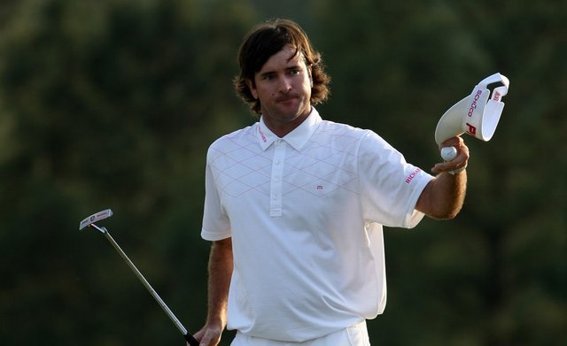 Bubba Watson of the United States walks up the 18th fairway during the final round of the 2012 Masters Tournament at Augusta National.