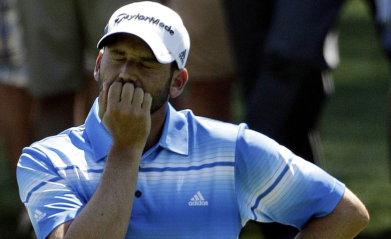 Sergio Garcia during the third round of the Masters.