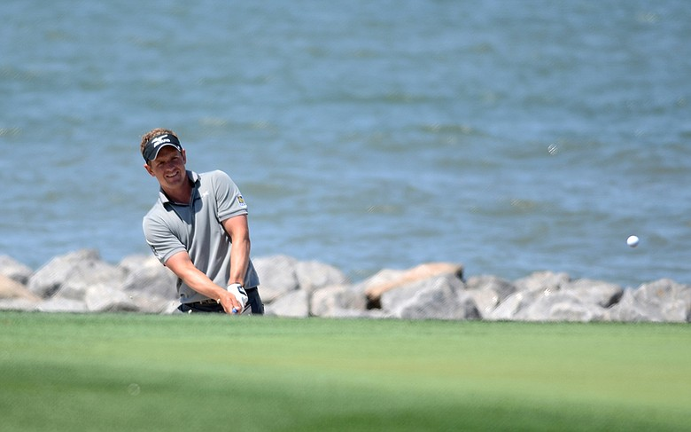 Luke Donald during a practice round at Harbour Town Golf Links