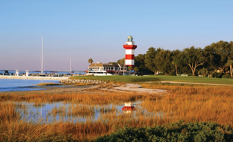 The iconic lighthouse at Harbour Town Golf Links.