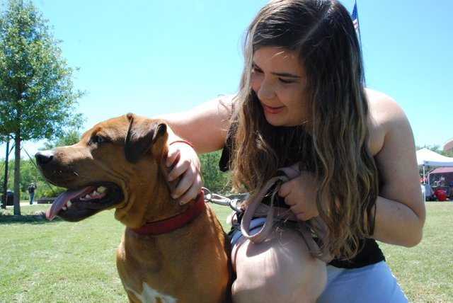 Samantha Simon said that if she didn't live on campus, she's probably adopt Max.