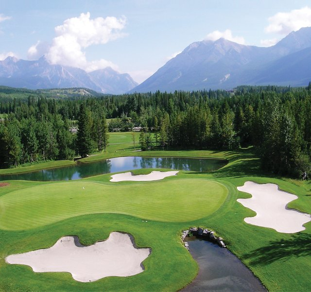 No. 4 on the Mount Kidd layout at Kananaskis Country Golf Course