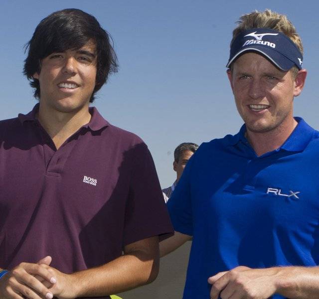 Javier Ballesteros (left) with Luke Donald (file photo)