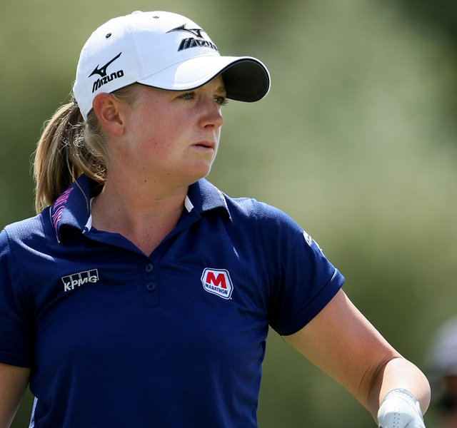 Stacy Lewis moved to the top of the leaderboard during Round 2 of the Mobile Bay LPGA Classic.