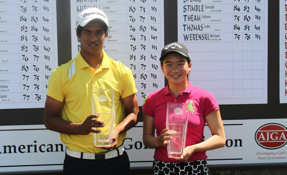 Rigel Fernandes and Mika Liu, both of Bradenton, Fla. won the AJGA Under Armour/Vicky Hurst Championship on Sunday at Squire Creek CC in Choudrant, La.