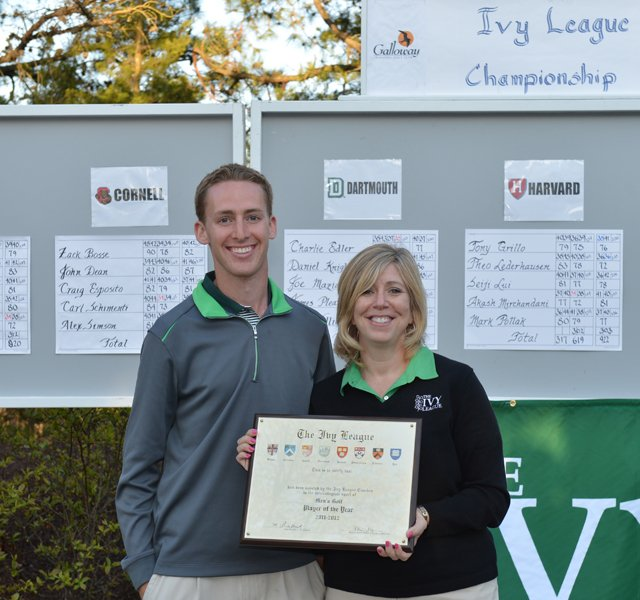 Dartmouth&#39;s Peter Williamson after winning the 2011-12 Ivy League Championship