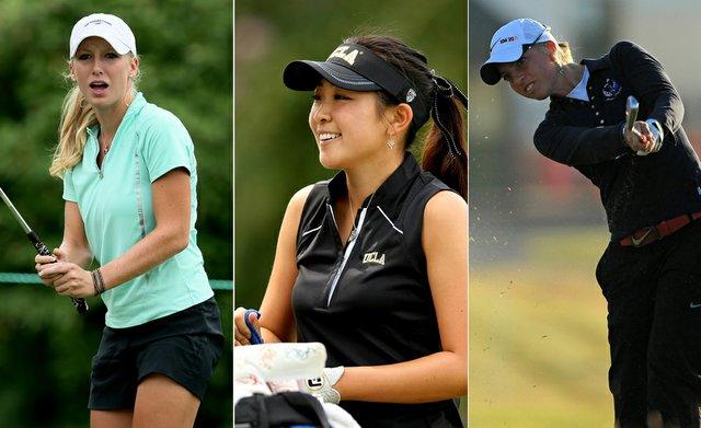 Alabama's Brooke Pancake, UCLA's Tiffany Lua and USC's Sophia Popov.