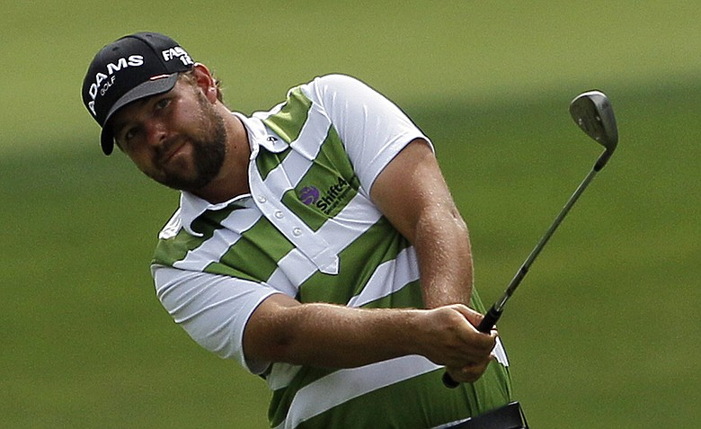 Ryan Moore during the second round of the Wells Fargo Championship.
