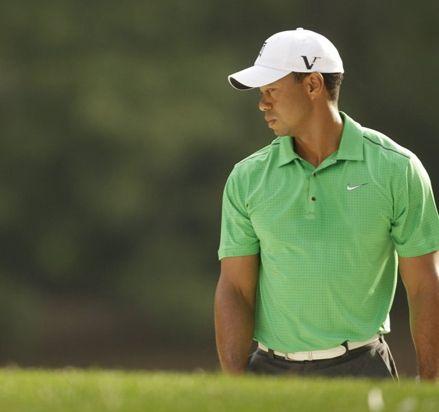 Tiger Woods during Round 2 of the Wells Fargo Championship.