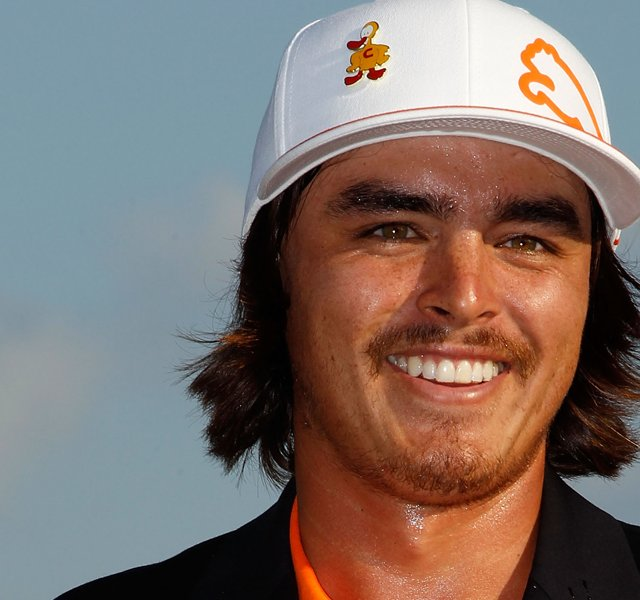 Rickie Fowler won the Wells Fargo Championship with a full mustache.