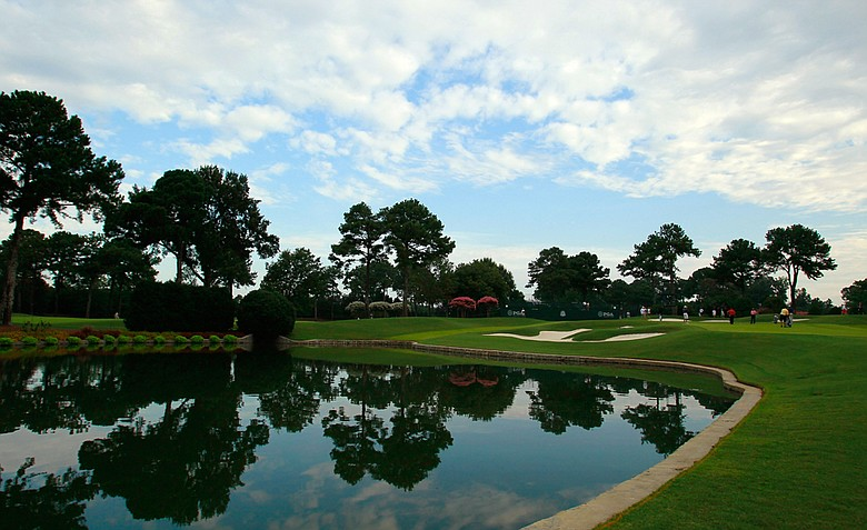 A general view of the seventh hole at the Atlanta Athletic Club.