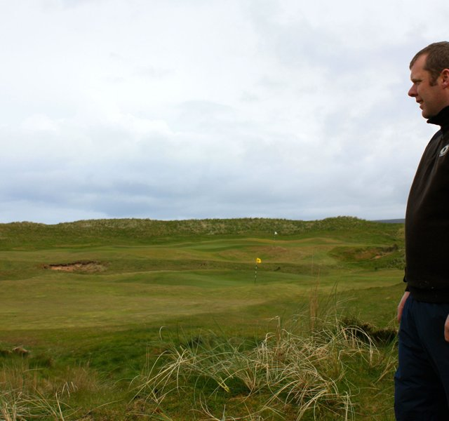 Kevin Smith, head greenkeeper at Machrihanish Dunes Golf Club.