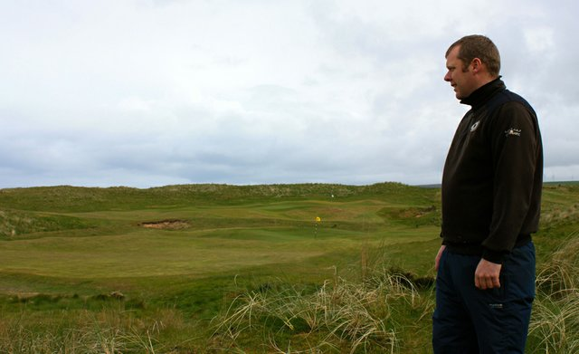 Kevin Smith, head greenkeeper at Machrihanish Dunes Golf Club.