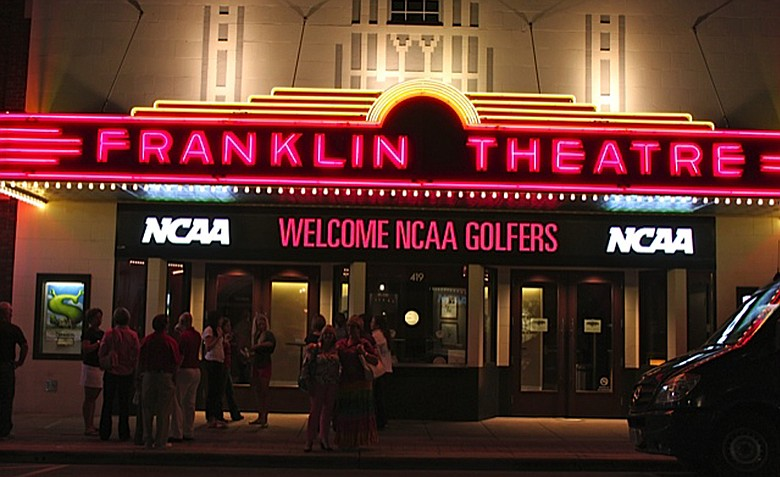 Vince Gill put on a private performance at the Franklin Theatre in Franklin, Tenn. for the NCAA finalists.