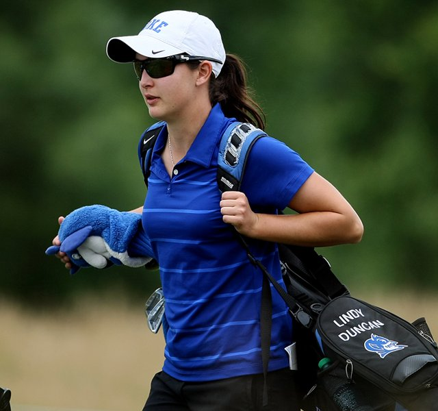 Duke's Lindy Duncan on Tuesday at the 2012 NCAA Division I Women's Golf Championships.
