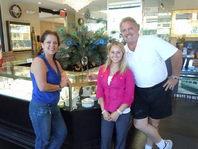 Bobby Simmons, right, with longtime Simmons Jewelers employees Nadia, left, and Jessica, will be opening a the new Tiffany Deli in the former location of Brandywine's Deli in Winter Park.