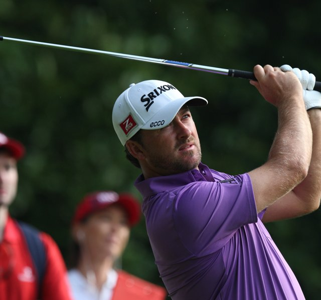 Northern Ireland&#39;s Graeme McDowell on the 2nd tee during day one of the BMW PGA Championship.