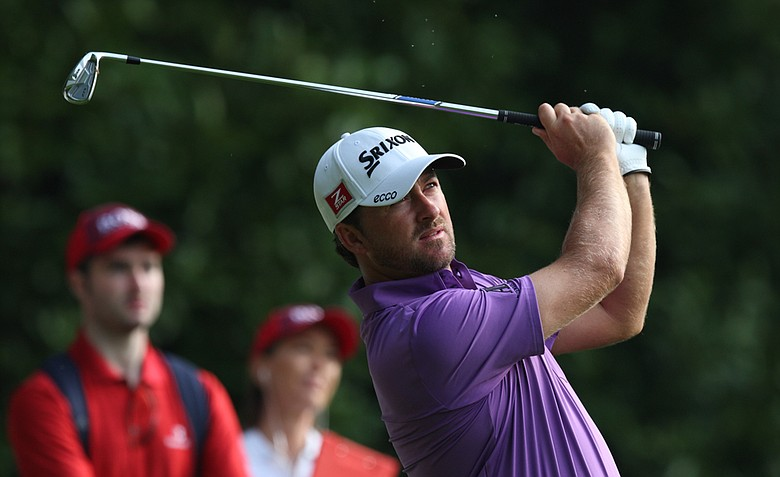 Northern Ireland's Graeme McDowell on the 2nd tee during day one of the BMW PGA Championship.