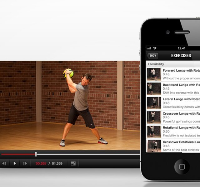 Nike Golf smartphone fitness app