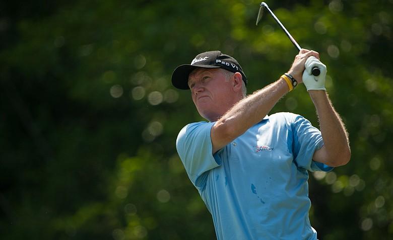 Roger Chapman won the Senior PGA Championship by two strokes on Sunday.