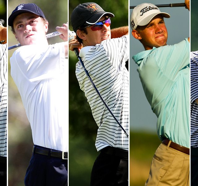 Texas&#39; Jordan Spieth, Alabama&#39;s Justin Thomas, Texas&#39; Dylan Frittelli, Stanford&#39;s Patrick Rodgers and Washington&#39;s Chris Williams.