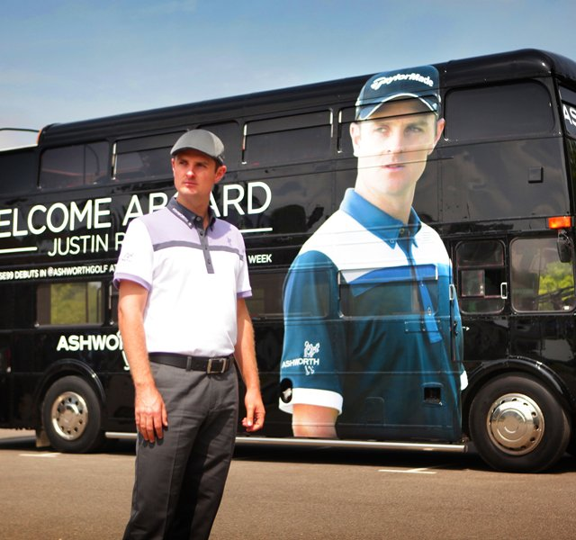 Justin Rose is Ashworth's latest brand endorser.